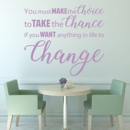 Inspirational You Must Make the Choice To Take the Chance