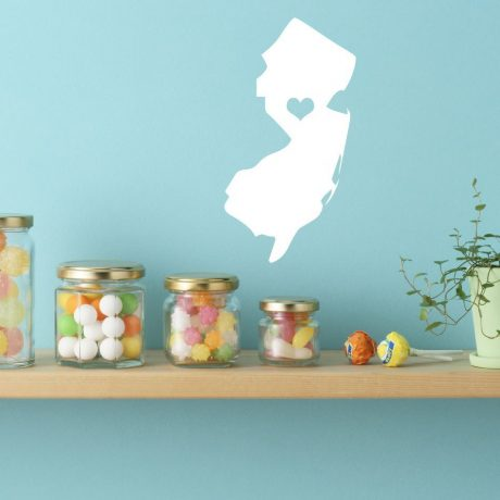 New Jersey State Vinyl Wall Decal - Map Silhouette Decoration