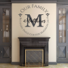 Our Family Name Wall Decal Vinyl Home Decor - Family Wall Decor