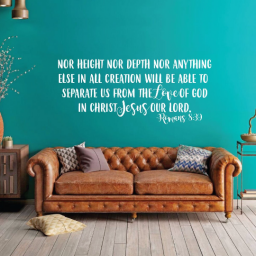Scripture Wall Art - Nor Height Nor Depth Can Separate Us From God's Love Wall Art, Romans 8:39