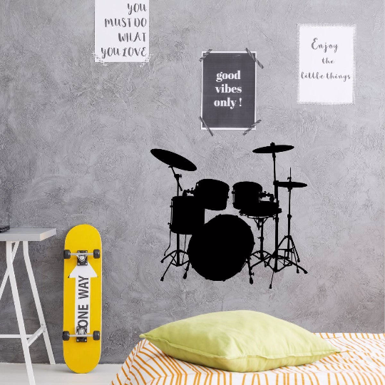 Music Wall Decor - Drum Wall Decal - Music Studio Decor