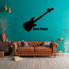 Music Wall Decor - Bass Guitar Wall Decal - Music Studio Decor