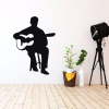 Guitar Wall Decor - Flamenco Guitar Player Wall Decal