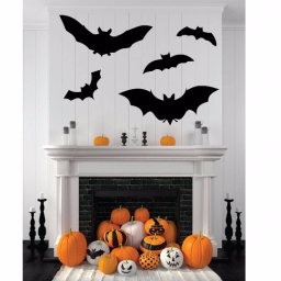 Bats - Halloween Decor - Fall Decor Vinyl Wall Decals.