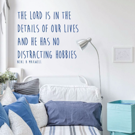 Motivational Vinyl Wall Quote - The Lord Is In The Details Of Our LIves - Neal A Maxwell