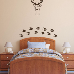 Deer Head Wall Decor - Vinyl Wall Art Decal Sticker