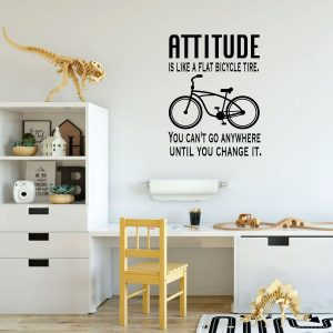 Motivational Quote: Attitude Is Like A Flat Bicycle Tire