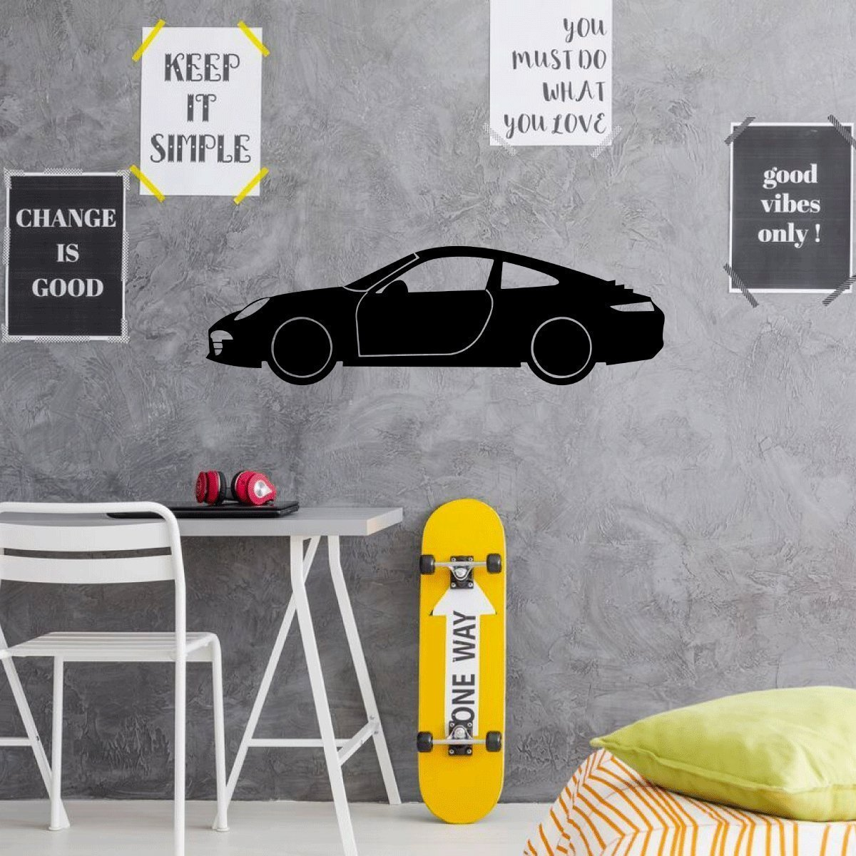 Porsche Wall Decor - Garage wall Decal