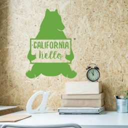 California Bear - Hello Sign