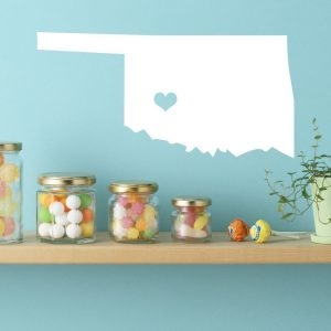 Oklahoma State Vinyl Wall Decal - Map Silhouette Decoration