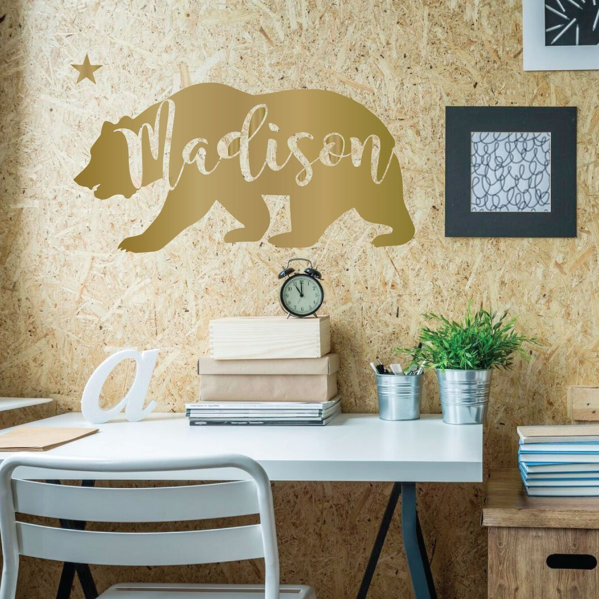 Wall Art Decals For Living Room: California Bear Vinyl Wall Art Decal For Home