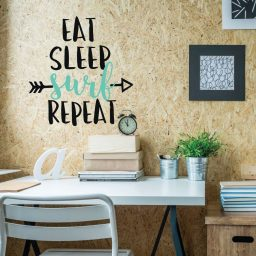 Surfing Wall Decor - Eat Sleep Surf Repeat