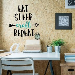 Funny Wall Art - Eat Sleep Craft Repeat
