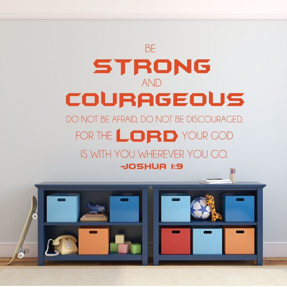 Christian Wall Decal - Bible Verse Wall Decal - Joshua 1:9