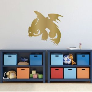 How To Train Your Dragon Wall Decal - Toothless Dragon