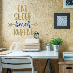 Funny Wall Art - Eat Sleep Beach Repeat