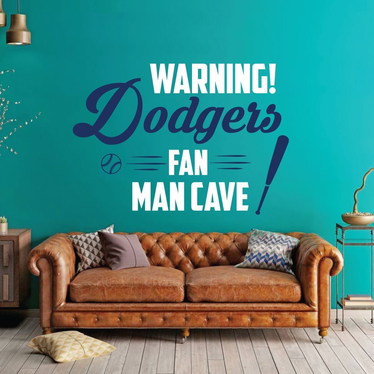 LA Dodgers Wall Decor - Baseball Decorations - Sports Team Athlete Bedroom Decor