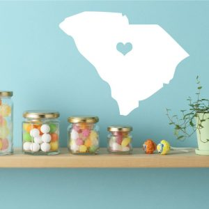South Carolina State Vinyl Wall Decal - Map Silhouette Decoration
