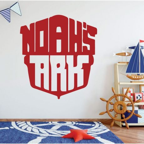 Red Noah's Ark - Christian Wall Art - Nautical Wall Decor