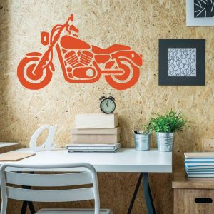 Motorcycle Wall Art- Personalized Vinyl Biker