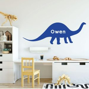 brilliant blue dinosaur brontosaurus vinyl wall decor