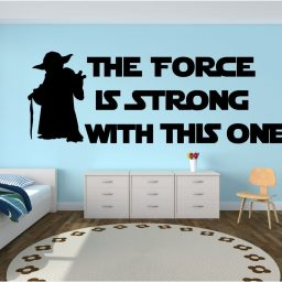 Yoda Wall Decor - Star Wars Wall Decor - The Force Is Strong With This One