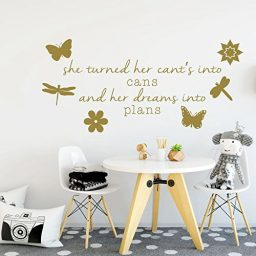 Butterflies, Dragonflies, and Flowers Vinyl Wall Decal