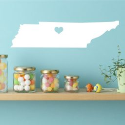 Tennessee State Vinyl Wall Decal - Map Silhouette Decoration