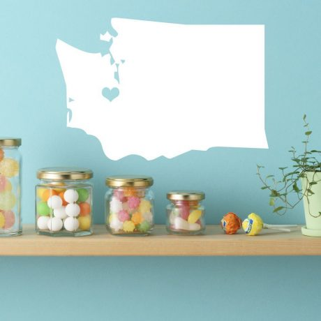 Washington State Vinyl Wall Decal - Map Silhouette Decoration