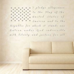 American Flag Wall Art -Pledge of Allegiance - Patriotic Decals