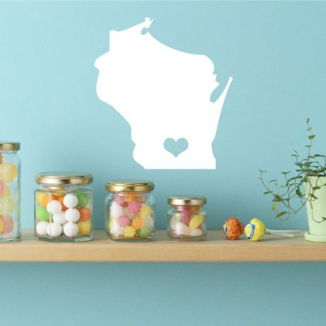 Wisconsin State Vinyl Wall Decal - Map Silhouette Decoration