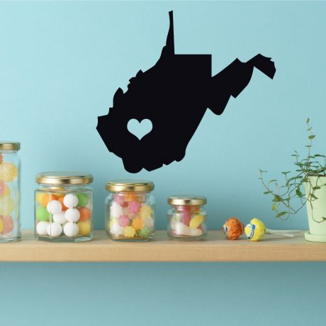 West Virginia State Vinyl Wall Decal - Map Silhouette Decoration