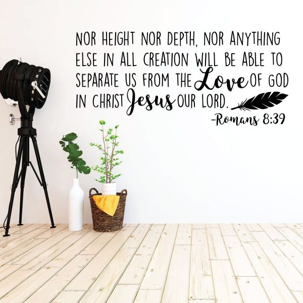 Scripture Wall Art - Nothing Can Separate Us From God's Love Wall Art, Romans 8:39