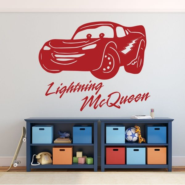 Disney Pixar Cars - Lightning McQueen Personalized Wall Decal