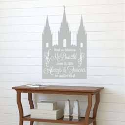 LDS Wall Art - Salt Lake Temple - Personalized Wall Decor