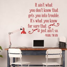 Mark Twain Quote: It Ain't What You Don't Know That Gets You Into Trouble. It's What You Know For Sure That Just Ain't So