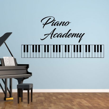Piano Wall Art - Vinyl Wall Decal for Home