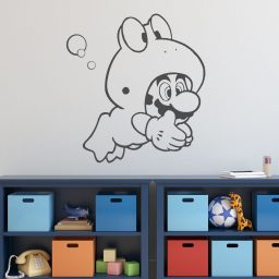 Super Mario Wall Decor - Mario Frog Suit - Vinyl Wall Decal for Boys Room
