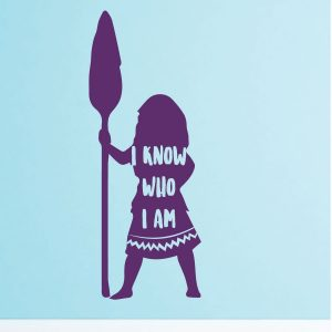 Disney Princesses Wall Decals -I know Who I Am - Moana