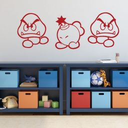 Super Mario Wall Decor - Goomba And Bob-omb