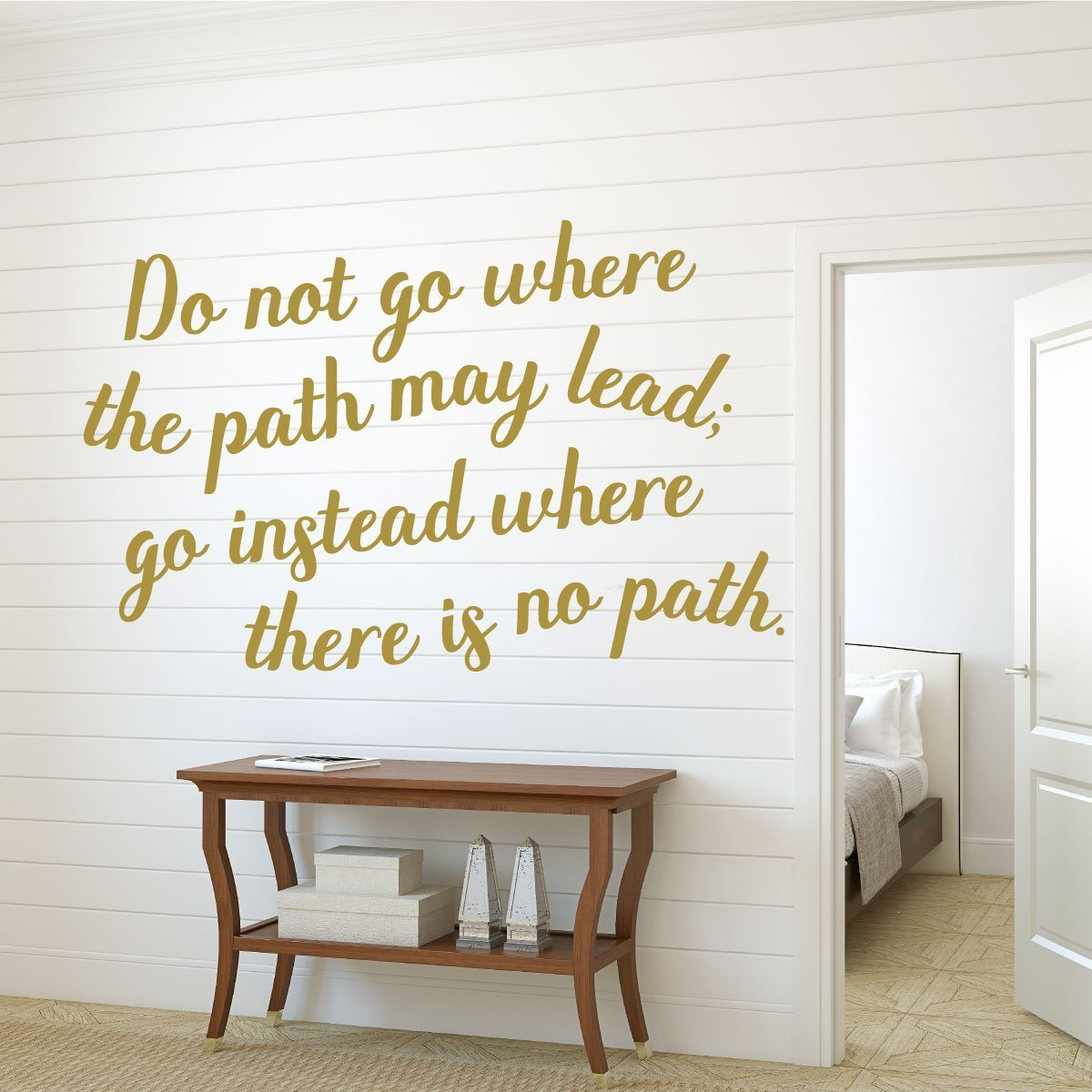 Adventure Wall Decal -Do Not Go Where the Path May Lead You Instead Where There Is No Path