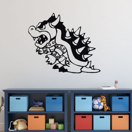 Super Mario Bros Wall Decor - Bowser - Vinyl Wall Decal for Boys Room