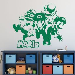 Super Mario Wall Decor - Mario, Luigi, Wario And Yoshi
