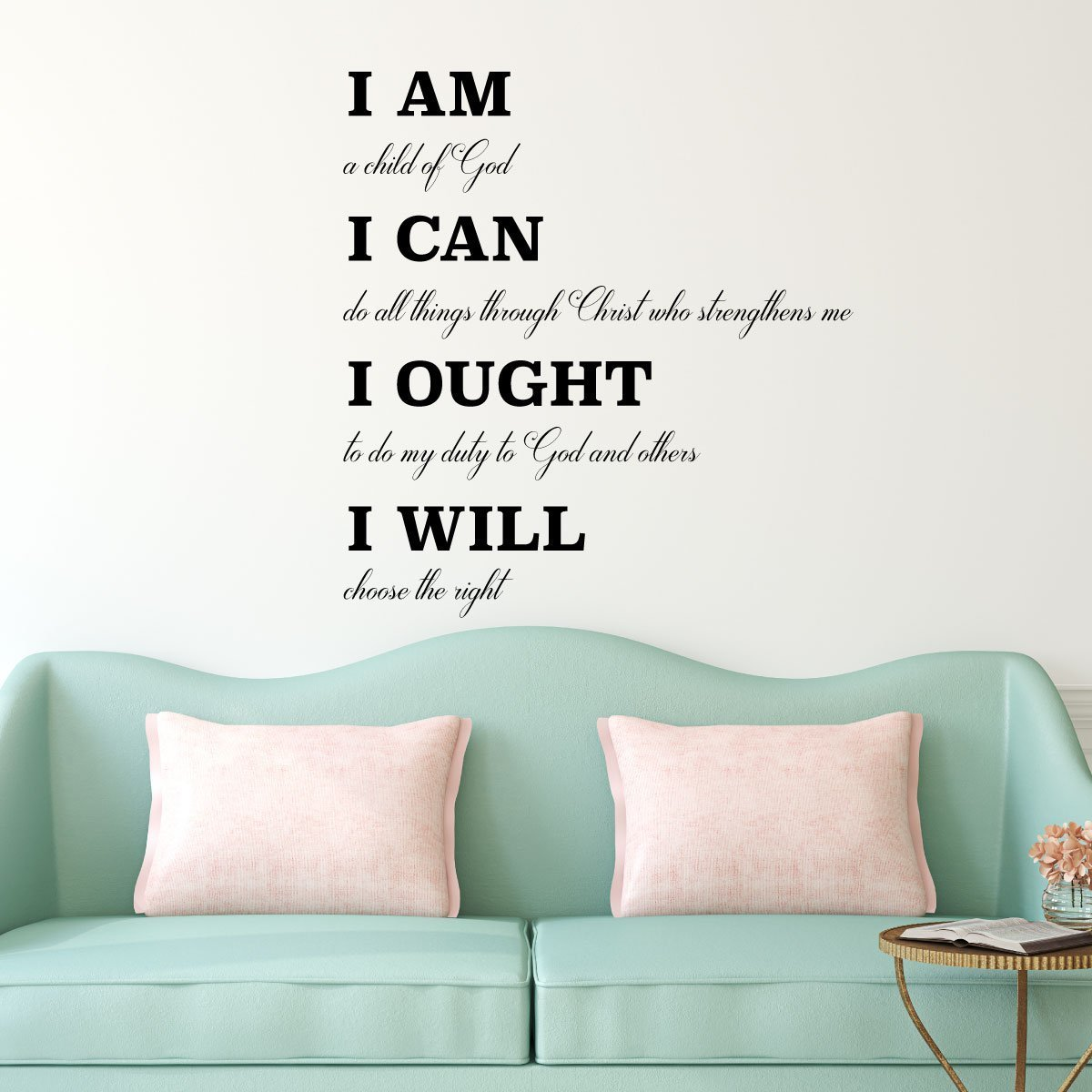 Charlotte Mason Wall Decal I am i can i ought i will