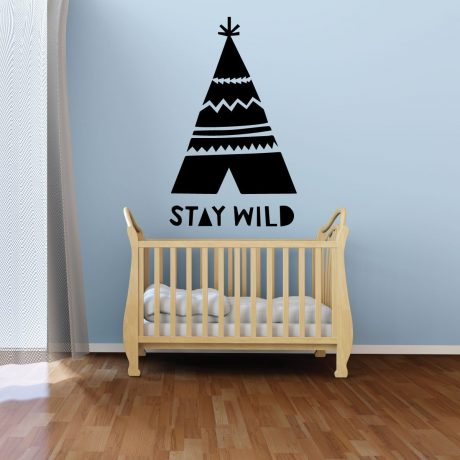 Nursery Wall Decal - Stay Wild Teepee