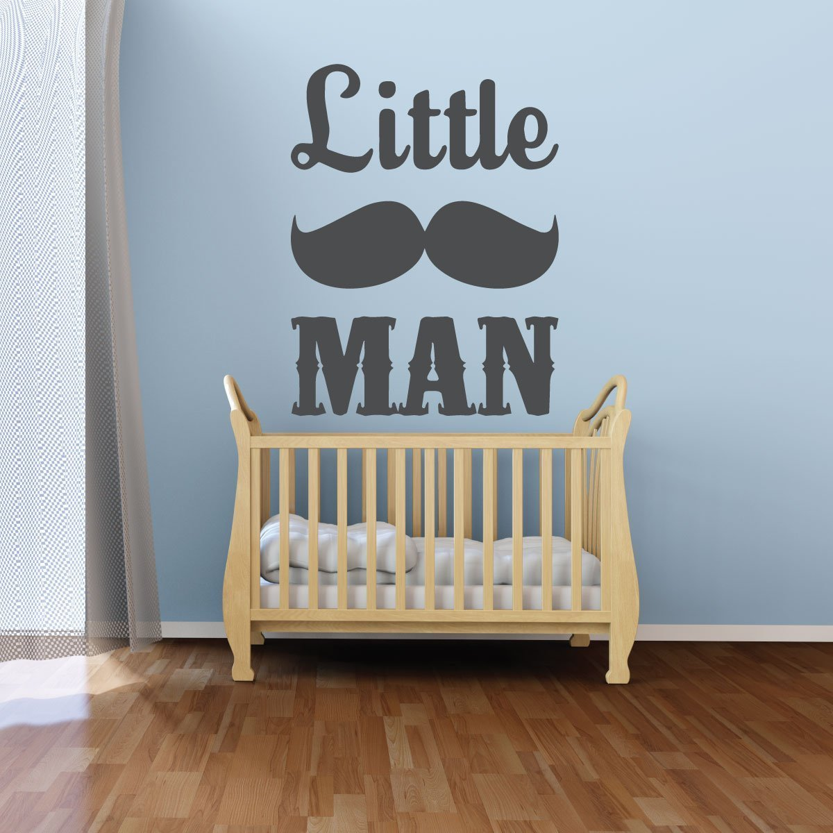 Nursery Wall Decal - Little Man Mustache