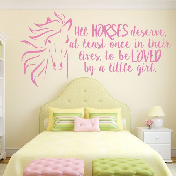 Horse Wall Decor -All Horses Deserve Once In Their Lives, To be Loved By A Little Girl