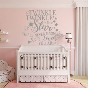 Nursery Wall Decal - Twinkle Twinkle Little Star You'll Never Know How Loved You Are