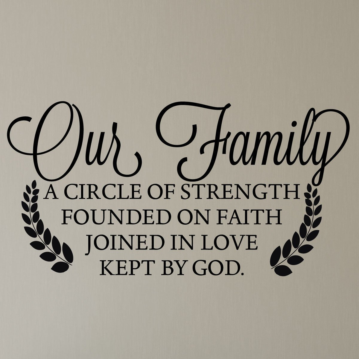 Our Family Wall Stickers