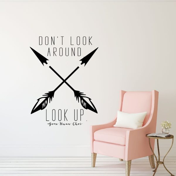 LDS Quotes - Don\'t Look Around, Look UP - Religious Decals for Home ...
